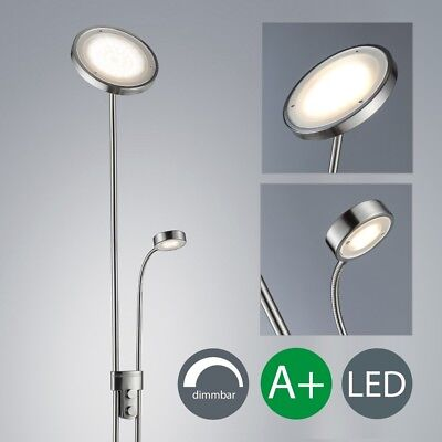 LED Steh-Leuchte Dimmbar Decken-Fluter Strahler Wohnzimmer Stand-Lampe Leselampe
