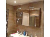 Bathroom furniture, sink unit, mirrored wall unit & long storage unit