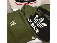 Men's khaki adidas tracksuits