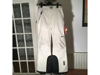 PAIR OF CHILDREN'S SNOWLINE SKI TROUSERS - SIZE 176 UK - JACK WOLFSKIN - COLOUR: DUSTY GREY