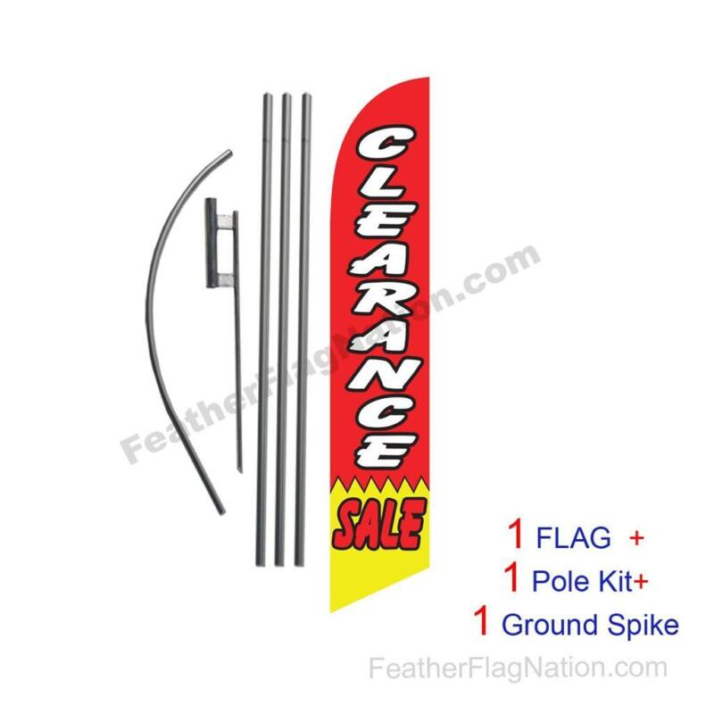 Clearance Sale Feather Banner Swooper Flag Kit with pole+spike