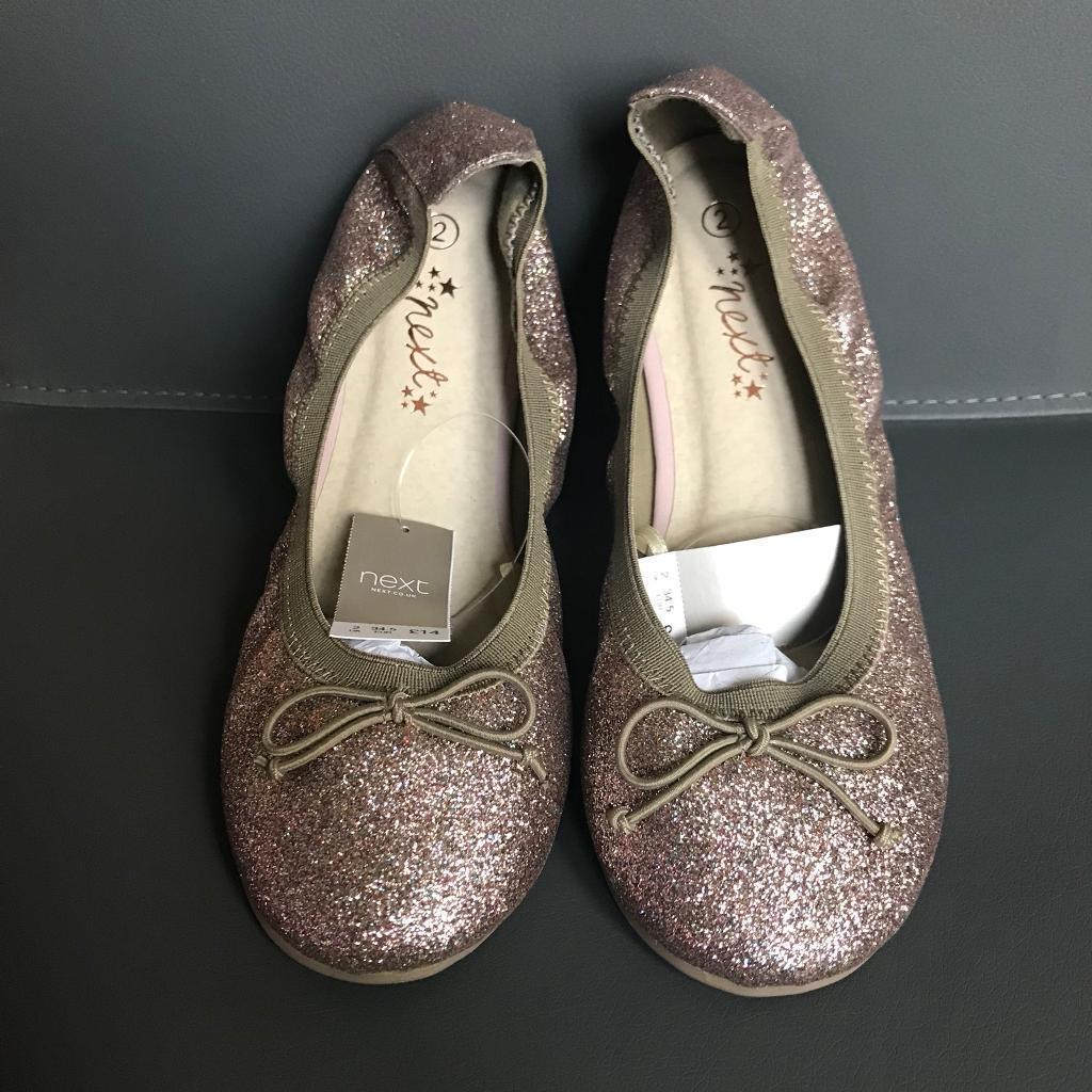 New Girls Next Glittery Ballerina Shoes- Size 2