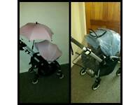Bugaboo bee 3 with blue or soft pink extandeble hood