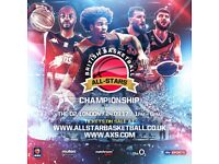 FRONT ROW BRITISH BASKETBALL ALL-STAR CHAMPIONSHIP TICKETS LONDON 02 SUNDAY 24TH SEPTEMBER 2017