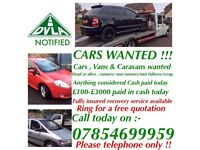 R&M MOTORS WANT MOT FAILURES SCRAP AND DAMAGED CARS VANS OR WHY! 07854699959! TOP PRICES PAID!!!