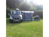 Camper van drive away air awninig