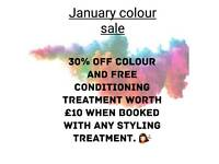 JANUARY hair colour discount