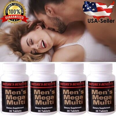 4 X #1 BEST MALE VITAMIN SPORTS PRE POST WORKOUT SEXUAL STAMINA BOOST (Best Male Vitamin Supplements)
