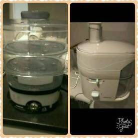 Tefal Steamer and kenwood juicer