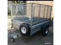 6ft x 4ft trailer + ramp/mesh sides/spare wheel