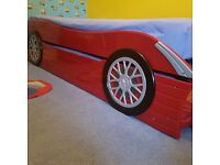 Kids Car Bed With Pullout Trundle Bed made from Solid Wood
