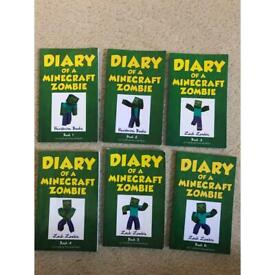 Diary of a Minecraft Zombie Books 1-6 (6 Books)