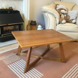Rare Retro Danish inspired Oak framed Coffee Table Side Table Vintage Table