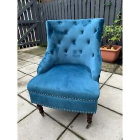 Occasional chair blue (bedroom chair etc)