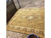 Large wool carpet rug 12 X 9