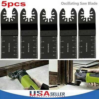 5pcs Universal 34mm Oscillating Multi Tool Saw Blades Carbon Steel Cutter Diy