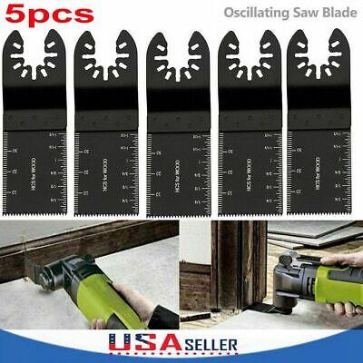 5pcs Universal 34mm Oscillating Multi Tool Saw Blades Carbon Steel Cutter Diy