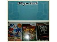 Wii games and game board