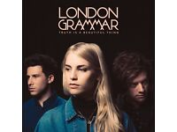 2x London Grammar standing tickets, O2 Apollo Manchester, Friday 20th October 2017