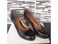 Clarks black heels size 5 Wide Fit