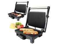 NEW Quest 1200 Watt Stainless Steel Multi Function Grill - Toasted Panini Sandwich Press Non-Stick