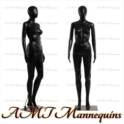 Fc-7b Female Display Mannequinbase Full Body Durable Black Plastic Manikin