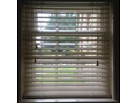 Wooden Venetian Blind Ivory 50mm wide slats, size 1135 X 1600mm