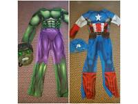 Marvel Hulk costume with light up mask cap america with mask 7-8yrs