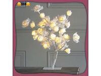 LED white rose tree