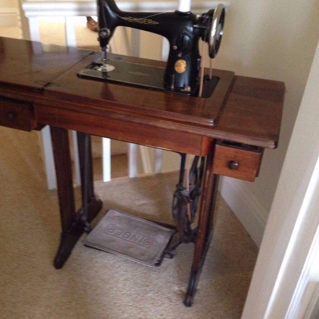 Antique singer sewing machine table in sale manchester gumtree antique singer sewing machine table sciox Choice Image