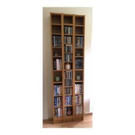 Oak Veneer Benno CD/DVD Storage Units by IKEA