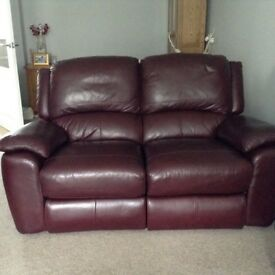 Two seater reclining sofa and chair