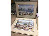 2 large framed Bermuda Pictures