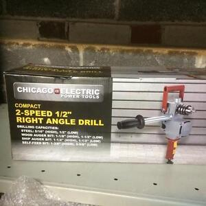 HOC  -  1/2 INCH RIGHT ANGLE DRILL BRAND NEW + FREE SHIPPING + 30 DAY WARRANTY