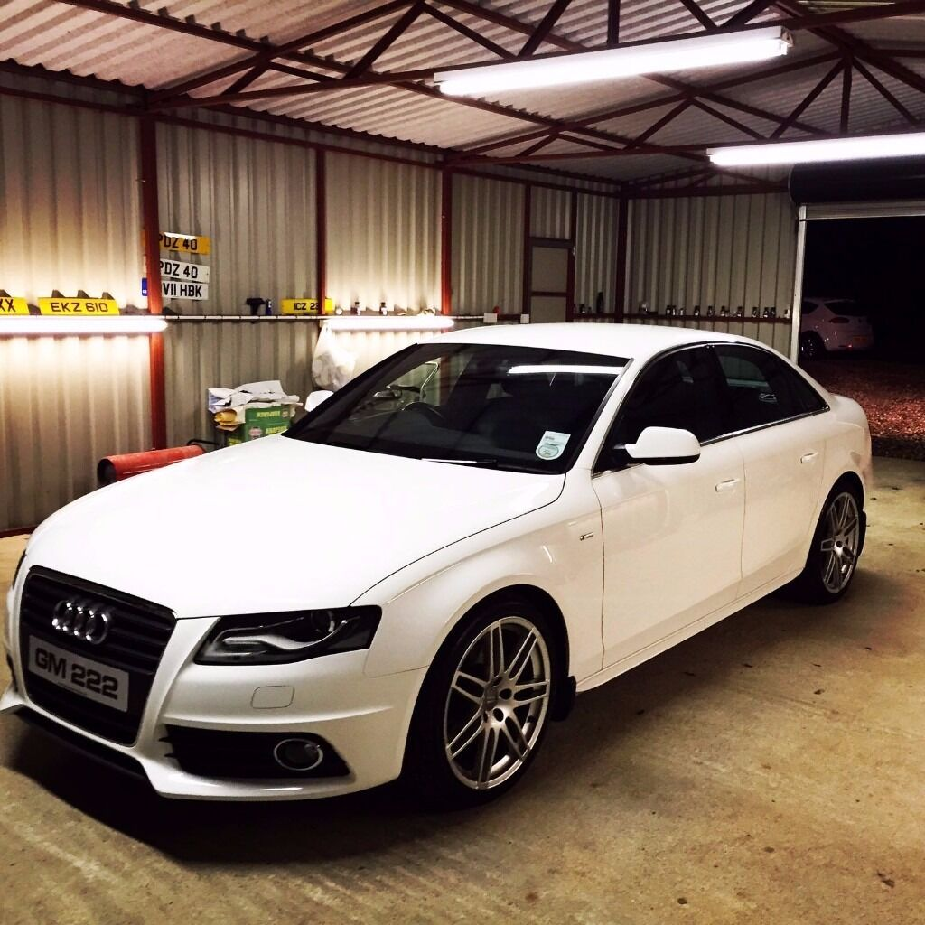 audi a4 s line special edition 2010 white 64k. Black Bedroom Furniture Sets. Home Design Ideas