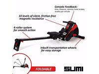 Viavito Sumi Folding Rowing Machine - Black