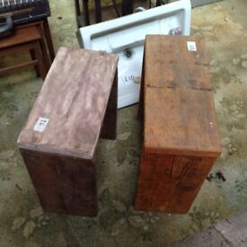 2 Wooden Stools, dowel jointed