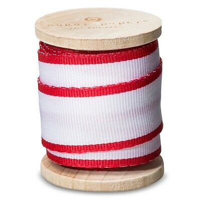 New ! Sugar Paper Red and White Grosgrain Ribbon Gift Supplies Red and White