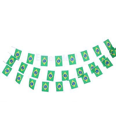 sche Bunting Flagge 10M mit 30 Fahnen (14cm x 21cm) (Gelb Stoff Bunting)