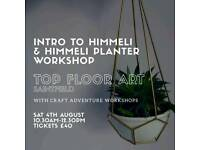 Himmeli planter workshop with himmeli intro