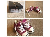 Size 5 Girls Pink Converse Trainers