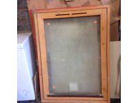 Wood frame window, double glazed
