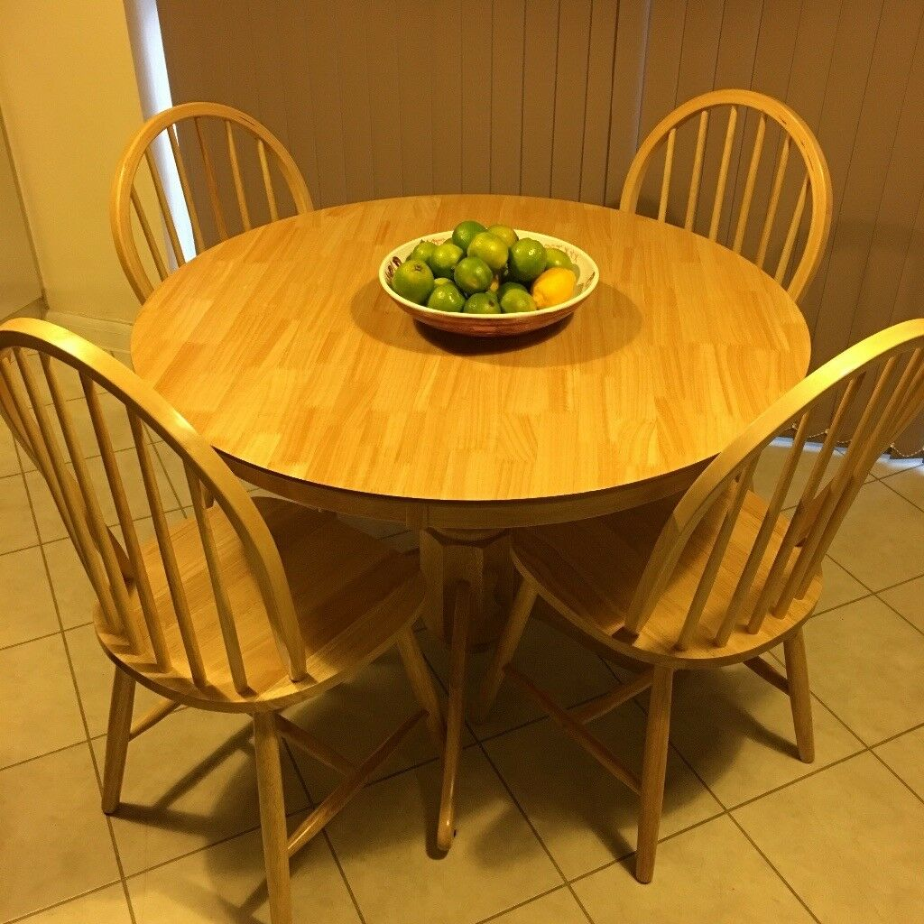 solid pine kitchen table and chairs for sale diameter