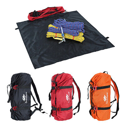 Tree Arborist Rock Climbing Rope Cord Gear Carry Bag Backpack with Ground Sheet (Rock Climbing Rope Bags)