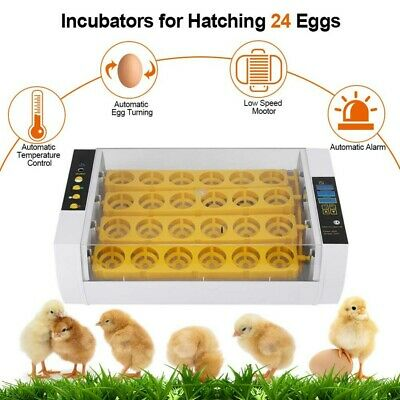 Home Farm Digital 7/24/32 Chicken Egg Incubator Poultry Temperature Control UK