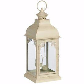 Square Lantern Twin hanging tea light lantern