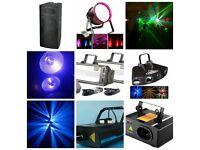 DJ equipment, PA & Lighting