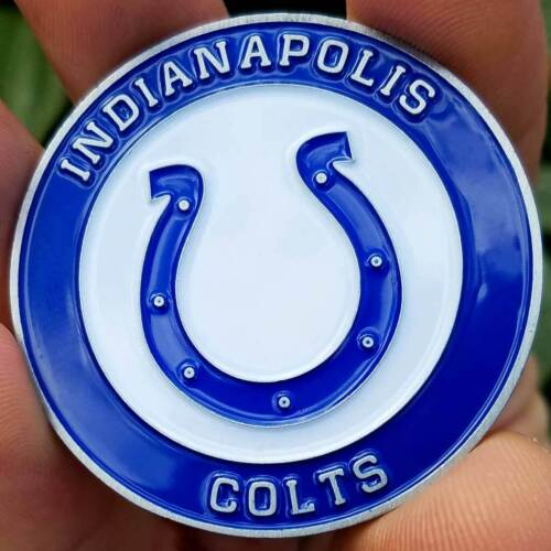 PREMIUM NFL Indianapolis Colts Poker Card Guard Chip Protector Golf Marker Coin