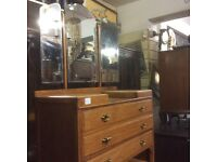 Vintage 3 mirror dressing table