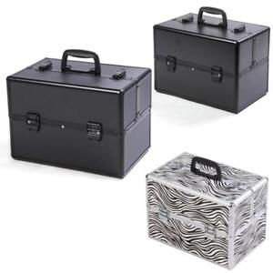 "Pro 14""x9""x10""Aluminum Makeup Train Case Jewelry Box Cosmetic Organizer 3 Color Choices - BRAND NEW - FREE SHIPPING"